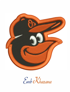 Baltimore Orioles logo embroidery design