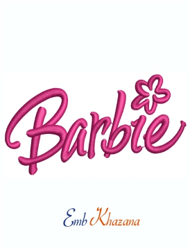 Barbie Font Logo Machine Embroidery Design
