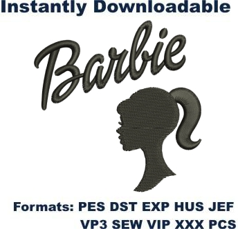 Barbie Doll embroidery design