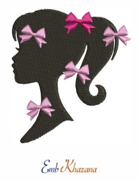 Barbie Girl Face Embroidery Design