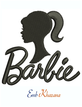 Barbie Logo And Symbol Machine Embroidery Design