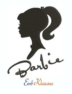 Barbie Girl Silhouette Machine Embroidery Design