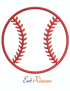Baseball Softball Logo Machine Embroidery Design