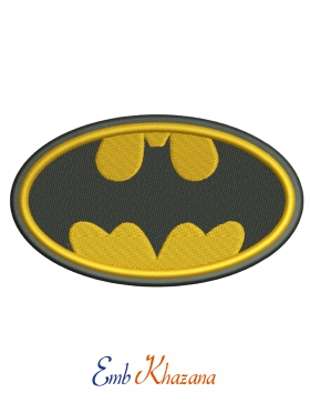 batman logo black and yellow