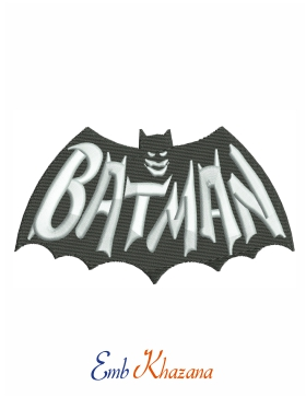 old batman logo Embroidery Pattern