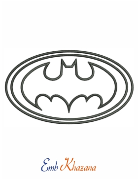 Batman Outline Logo Embroidery Design