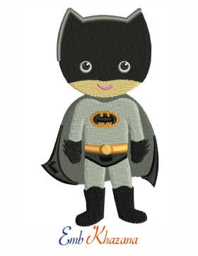 Baby Batman embroidery design