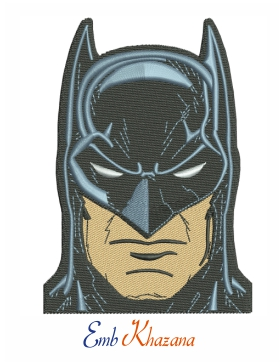 Batman Face embroidery design