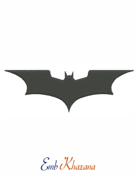 Batman wings embroidery design