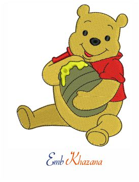 Bear Winnie the Pooh embroidery design