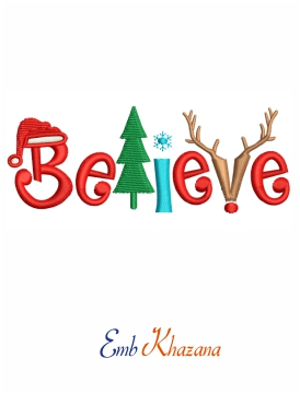 Believe Christmas Design