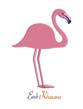 Bird Flamingo embroidery design