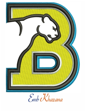 Birmingham southern college logo embroidery design