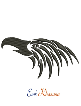 Black Eagle Embroidery Design