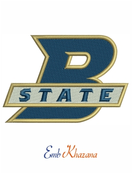 Bluefield State Big Blues Logo Embroidery Design