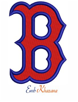Boston Red Sox b Logo embroidery design