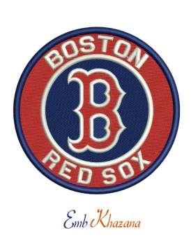 Boston Red Sox logo embroidery design