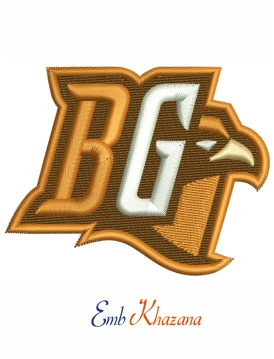 Bowling Green Falcons embroidery design