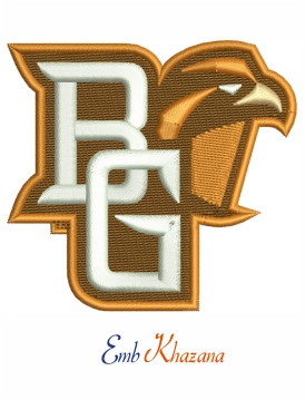 Bowling green falcons logo embroidery design