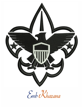 Boy scouts of america logo embroidery design