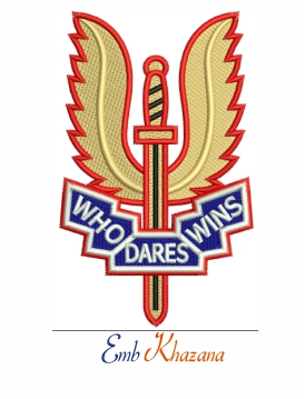 British Special Air Service Logo Embroidery Design
