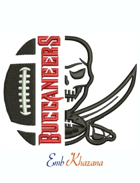 Tampa Bay Buccaneers Football Logo Machine Embroidery Design