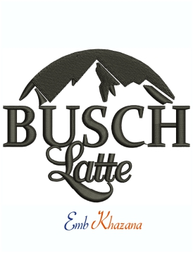 Busch Latte Logo Machine Embroidery Design
