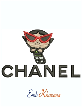 Chanel Logo With Buttercup Machine Embroidery Design