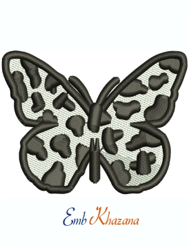 Butterfly Black And White Machine Embroidery Design