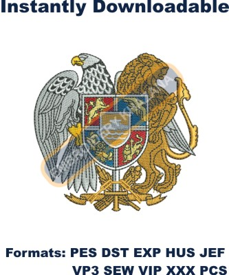 Coat Of Arms Of Armenia Embroidery Designs