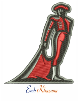 Cal State Northridge Matadors embroidery design