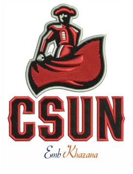 California State Northridge logo embroidery design