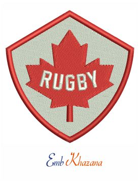 Canada Rugby Team Logo Embroidery Design