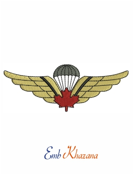 Canadian Airborne Jump Wings embroidery design