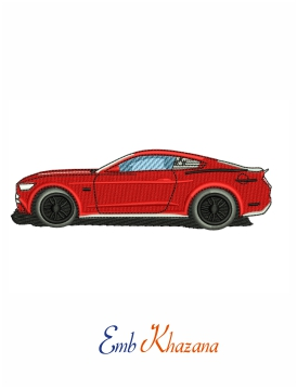 Car Ford mustang Embroidery design
