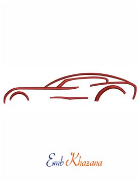 Car Symbol embroidery design