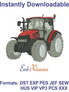 Case Tractor Free Embroidery Design