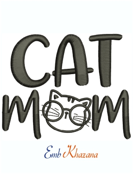 Cat Mom Machine Embroidery Design
