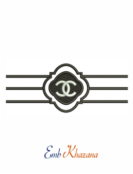 Chanel logo embroidery design for machine
