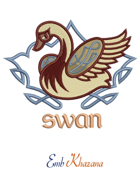 Celtic Swan Embroidery design