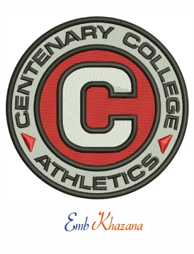 Centenary college logo embroidery design