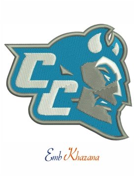 Central Connecticut State Blue Devils logo embroidery design