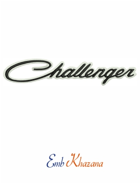 Challenger Logo Embroidery Design