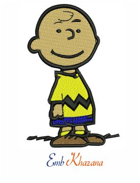 Charlie Brown embroidery design