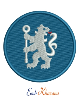 Chelsea lion with circle Logo