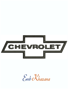 Chevrolet Classic Bowtie Logo Machine Embroidery Design