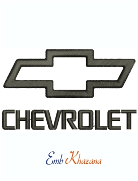 Chevrolet Logo Machine Embroidery Design