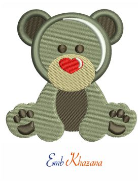 Chicago Teddy bear embroidery design