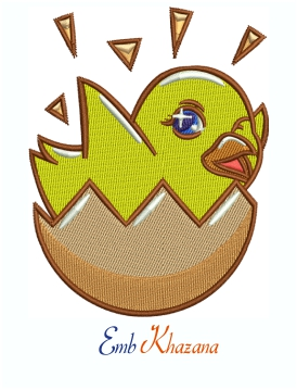 Baby Chick Machine Embroidery Design