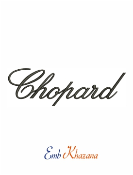 Chopard Logo Machine Embroidery Design